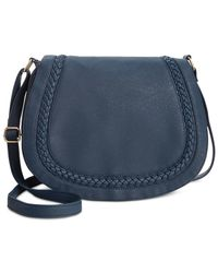 Rampage | Blue Braided Saddle Crossbody | Lyst