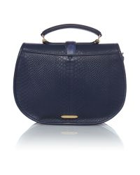 Matthew Williamson - Blue Kesh Navy Snake Crossbody Bag - Lyst