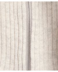 Vince - White Side Zip Detail Wool-cashmere Knitted Turtleneck - Lyst