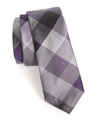 Calibrate | Purple Woven Silk Tie for Men | Lyst