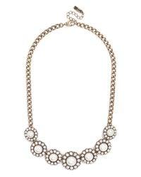 BaubleBar - White Pearl Halo Collar - Lyst
