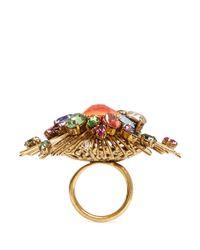 Erickson Beamon | Multicolor 'telepathic' Crystal Firework Ring | Lyst