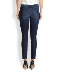 7 For All Mankind - Blue The Skinny Ankle Jeans - Lyst