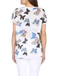 Izabel London - Blue Oversized Butterfly Print Top - Lyst
