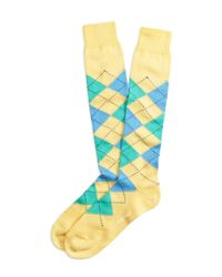 Brooks Brothers | Yellow Argyle Over-the Calf Socks for Men | Lyst