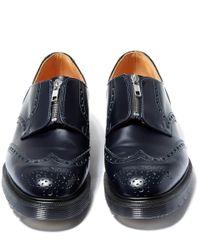 YMC - Blue Navy Zip Brogue Shoes for Men - Lyst