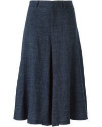 Societe Anonyme - Blue Pleated Culottes - Lyst