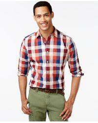Tommy Hilfiger - Blue Segal Plaid Long-sleeve Custom-fit Shirt for Men - Lyst