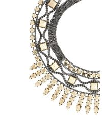BCBGMAXAZRIA | White Heavy-Metal Spike Necklace | Lyst