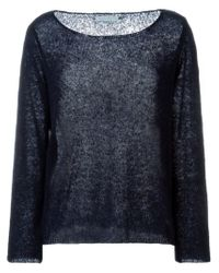 Societe Anonyme - Blue Boat Neck Sweater - Lyst