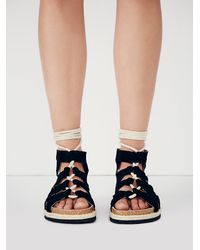 Free People - Black Fp Collection Womens All Points Sandal - Lyst