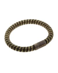 Carolina Bucci - Metallic Twister Bracelet Black Rhodium - Lyst