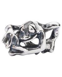 Trollbeads | Metallic Sterling Silver Climbing Frog Bead | Lyst