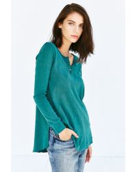 Project Social T | Green Joey Henley Top | Lyst