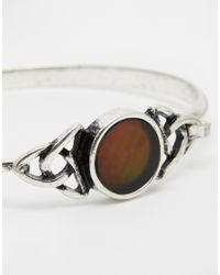 ASOS - Brown Mood Stone Cuff Bracelet - Lyst