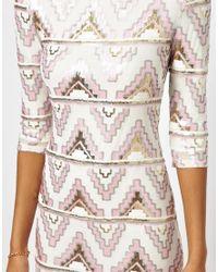 TFNC London - White Bodycon Mini Dress With Aztec Sequins - Lyst