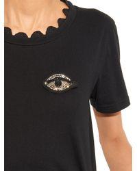 N°21 Black Eye Crystal-Embellished Brooch