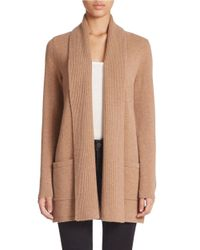 Lord & Taylor | Brown Mixed-gauge Cashmere Cardigan | Lyst