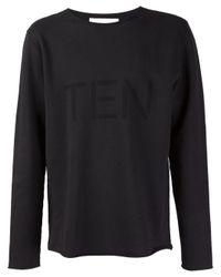 Our Legacy - Black 'ten' Sweatshirt for Men - Lyst