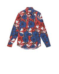 Marni | Blue Printed Cotton Shirt for Men | Lyst