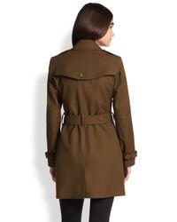 Burberry Brit - Green Crombrook Trenchcoat - Lyst