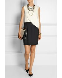 Marni - Metallic Leather And Crystal Multi-Strand Necklace - Lyst