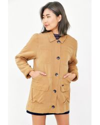 Obey - Brown Fairfield Fleece-lined Hooded Jacket - Lyst
