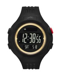 Adidas Originals - Black 'questra Xl' Rubber Strap Watch for Men - Lyst