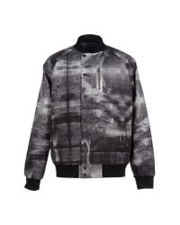 Uppercut - Gray Graphic-print Varsity Jacket for Men - Lyst