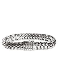 John Hardy | Metallic Classic Chain 11mm Large Braided Silver Bracelet for Men | Lyst