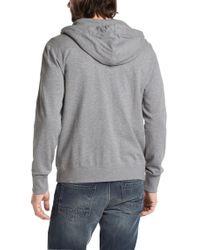 BOSS Orange - Gray Hooded Sweatshirt Jacket 'ztylo 1' In Cotton for Men - Lyst