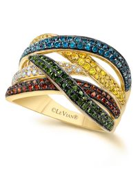 Le Vian | Metallic Mixberry™ Diamond Diamond Crossover Ring (1-1/10 Ct. T.w.) In 14k Gold | Lyst