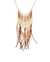 ASOS - Brown Fringe Necklace - Lyst