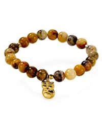 Argento Vivo - Brown Owl Beaded Bracelet - Lyst