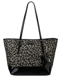 Nine West - Black Glitter Mob Tote - Lyst