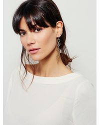 Free People | Metallic Womens Mixed Moon Phase Earrings | Lyst