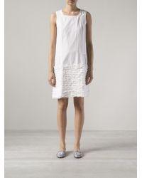 Dosa | White Simple Ruffled Dress | Lyst