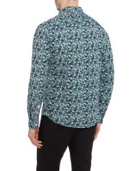 Blend | Green Print Slim Fit Long Sleeve Classic Collar Shirt for Men | Lyst
