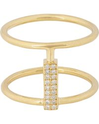 Ileana Makri - Metallic Women's Pave Diamond & Gold Connected Cage Ring - Lyst
