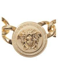 Versace - Metallic Medusa Logo Choker - Lyst
