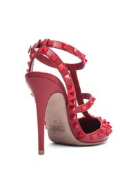 Valentino - Red Rockstud Studded Leather Pumps - Lyst
