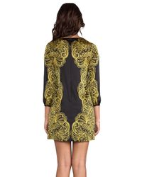 Juicy Couture | Bohemian Paisley Dress in Black | Lyst