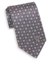 Versace | Gray Silk Foulard Tie for Men | Lyst