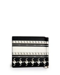 Givenchy - Black Printed Money Clip Wallet for Men - Lyst