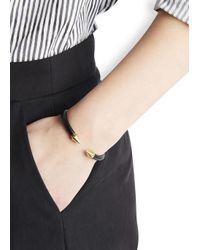Vita Fede - Black Mini Titan Gold-plated Twin Spike Bracelet - Lyst