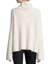 The Row - White Kaima Ribbed Knit Dolman-sleeve Turtleneck Sweater - Lyst