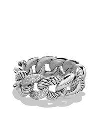 David Yurman | Metallic Belmont Curb Link Bracelet With Diamonds | Lyst
