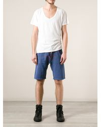 DSquared² - Blue Track Shorts for Men - Lyst