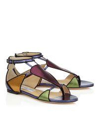 Jimmy Choo - Multicolor Hanzi Flat Sandals - Lyst