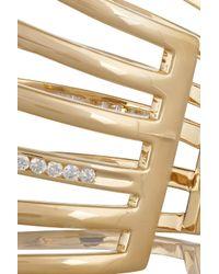 Lynn Ban - Metallic 14-Karat Gold Diamond Cuff - Lyst